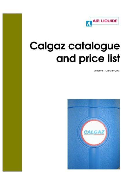 Calgaz Price list effecti