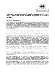 Catalyzing change towards quality education through rapid, step ...