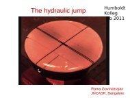 The hydraulic jump
