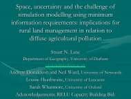 Space, uncertainty and the challenge of simulation modelling using ...