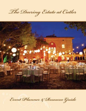 2013 Event Planner & Resource Guide - Deering Estate at Cutler