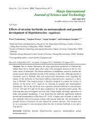 Effects of atrazine herbicide on metamorphosis and gonadal ...