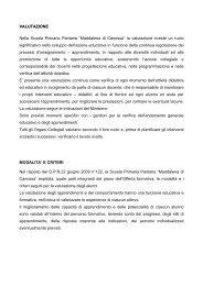 """VALUTAZIONE Nella Scuola Primaria Paritaria """"Maddalena di ..."""