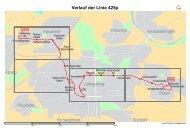 Verlauf der Linie 425p