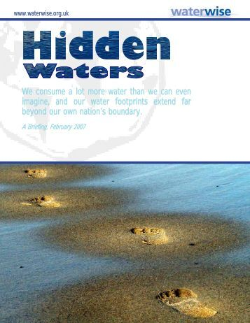 Hidden Waters - Water Footprint Network