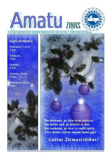 Amatu zinas decembris 2009.pdf - Latvijas Amatniecības kamera