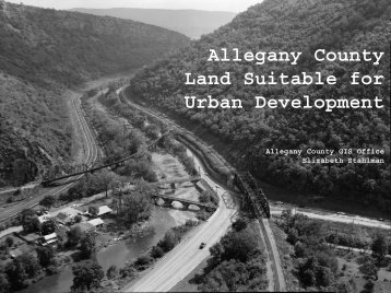 Allegany County Land Suitable for Urban Development