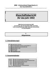 Geschäftsbericht 2002 - DRK-Kreisverband Siegen-Wittgenstein
