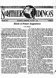 Week of Prayer Suggestions