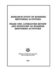 literature review and inventory of business ... - Moya K. Mason
