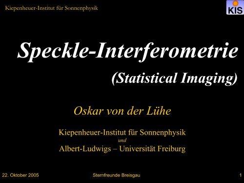 r - Kiepenheuer-Institut für Sonnenphysik - Albert-Ludwigs ...