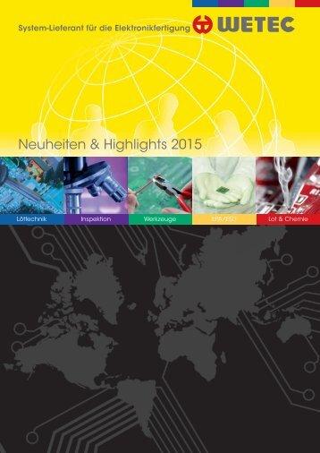 WETEC Neuheiten & Highlights 2015