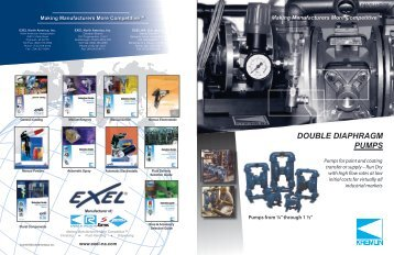 DOUBLE DIAPHRAGM PUMPS - Kremlin Rexson Sames