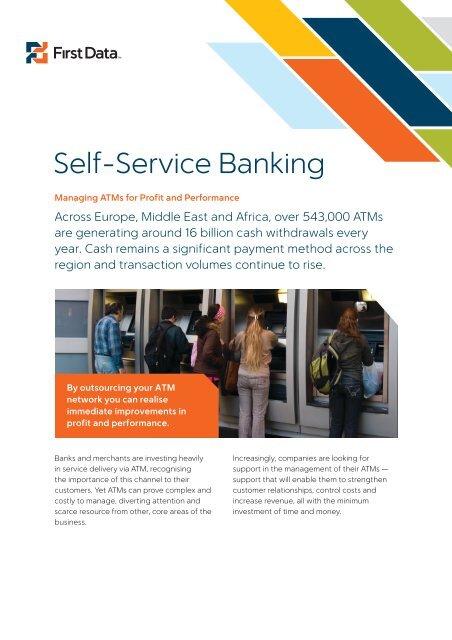 Self-Service Banking Download PDF – 2 MB - First Data