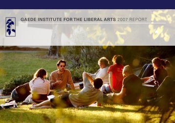 2007 Institute Year End Report - Westmont College