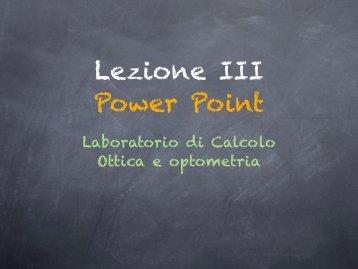 Esercitazione power point - Università degli Studi Roma Tre