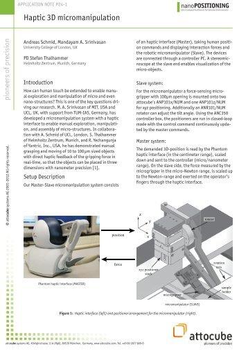 nanoPOSITIONING - attocube
