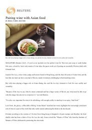 Pairing wine with Asian food - Asian Palate