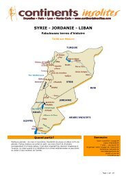SYRIE - JORDANIE - LIBAN - Continents Insolites