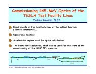 Commissioning 445-MeV Optics of the TESLA Test Facility Linac