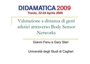 Trento, 22-24 Aprile 2009 - Università degli Studi di  Trento
