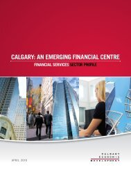 Financial services sector profile - Calgary Economic Development