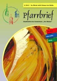 Pfarrbrief 2/2012 - Pfarrei Heilig Blut
