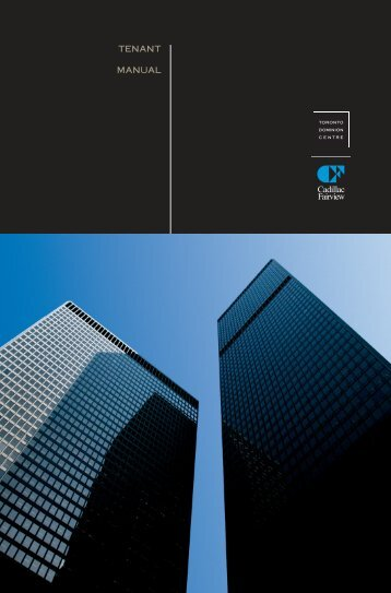 Tenant Manual - Toronto-Dominion Centre
