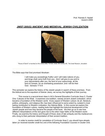 ancient and medieval jewish civilization - Mister Dans Home Page