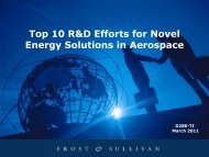 Top 10 R&D Efforts for Novel Energy Solutions in Aerospace