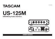 US-125M Owner's Manual - Tascam