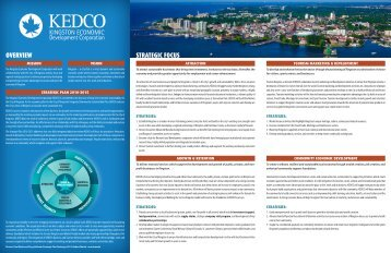 strategic plan 2010 - 2015 - KEDCO - Kingston