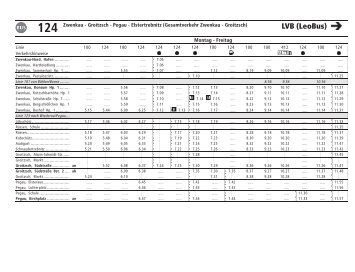 124 Elstertrebnitz - Pegau - Groitzsch - Zwenkau - Lvb