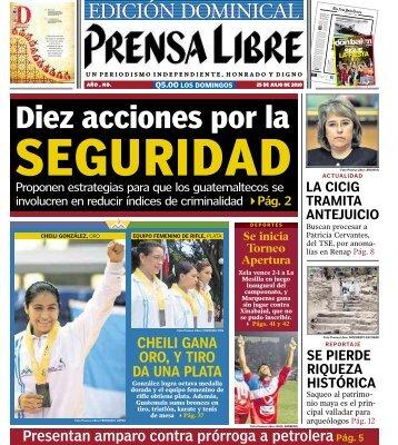 Diez acciones por la - Prensa Libre