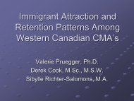An Analysis of Immigrant Attraction and Retention Patterns Among ...