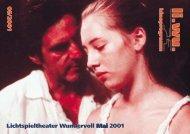 Li.Wu. Programm 2001/05 vorn - Lichtspieltheater Wundervoll