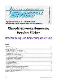 SM Anleitung Klapptriebwerkssteuerung Elicker 2.00 - SM-Modellbau