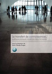 Le transfert de connaissances, - The French Scientific Office for ...