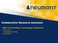 Research - Family History Technology Workshop