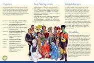Programm Body-Painting-Aktion Glücksballonregen Lichteffekte