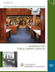 ACADEMIC AND PUBLIC LIBRARY CATALOG - ABC-Clio
