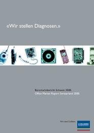 «Wir stellen Diagnosen.» - Colliers International Zurich