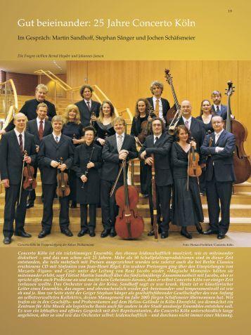 Gut beieinander: 25 Jahre Concerto Köln