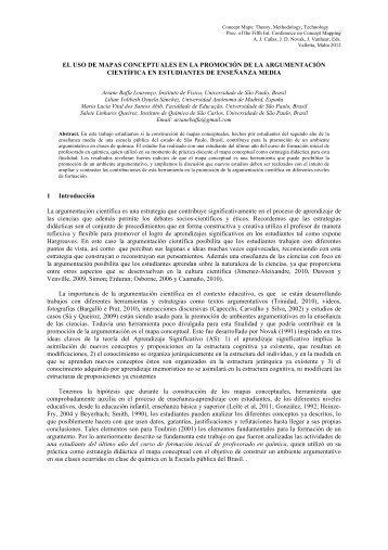 EL USO DE MAPAS CONCEPTUALES EN LA PROMOCIÓN DE LA ...