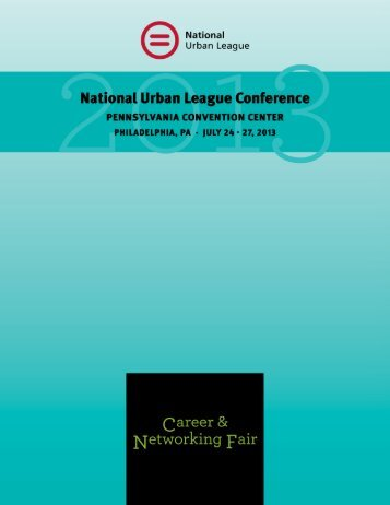 Career & Networking Fair Packages - 2013 National Urban League ...