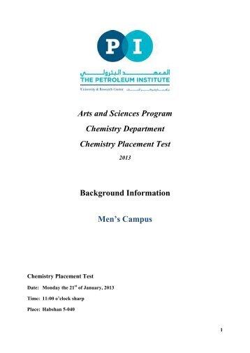 chemistry placement test rh yumpu com