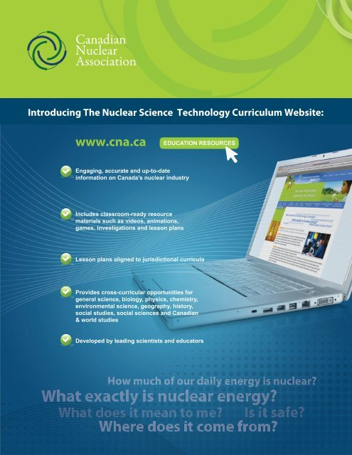 Introducing The Nuclear Science Technology Curriculum Website