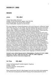 kiosk 01 / 2002 neues - Medium Magazin