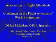 Challenges in the Flight Attendants' Work Environment - March 2013