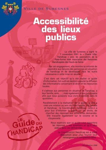 l'accessibilité des lieux publics (pdf - 211,13 ko) - Suresnes